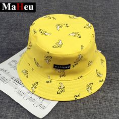Bucket cap Man Women Unisex cotton Banana Hat Bob Caps Hip Hop cool outdoor  sports Summer 750968dc267b