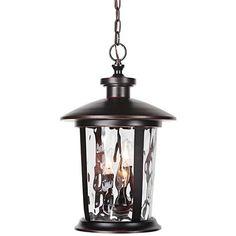 """Summerhays 12""""W Gilded Oiled Bronze Outdoor Hanging Light"""