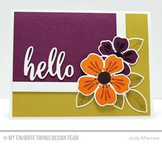 Handmade card from Jody Morrow featuring the Flashy Florals Card Kit #mftstamps