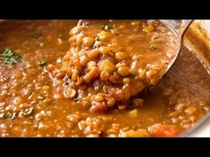 Don't settle for a bland Lentil Soup. Just a few little tips make all the difference, and you'll have everyone begging for seconds . and thirds! Vegetarian Protein Sources, Vegetarian Recipes, Cooking Recipes, Healthy Recipes, Dried Lentils, Lentil Stew, Lentil Salad, Healthy Soup, Music Education