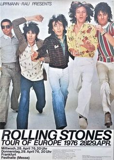 The Rolling Stones, Rolling Stones Concert, Beatles, Vintage Concert Posters, Tour Posters, Music Posters, Open Air, Pochette Album, Charlie Watts
