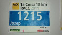1a. edició de la cursa a peu de 10 quilometres de RACC al Circuit de Catalunya. Formación Autoescola BCN - La autoescuela RACC de Barcelona www.autoescolabcn.com
