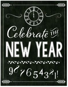 free chalkboard new years party printables full set