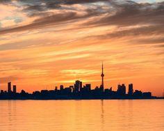 Cn Tower, New York Skyline, Celestial, Sunset, Country, Travel, Outdoor, Instagram, Sunsets