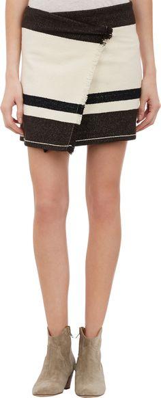 Isabel Marant Adelaide Blanket Wrap Skirt at Barneys.com