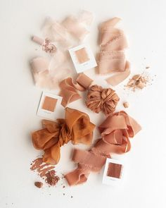 Tono + co Limited Edition Rust in Gossamer Silk Ribbon. View the new fall favorites featuring Champagne + Terra Cotta + Rust, lovingly hand-dyed in Santa Ana, California. Check out our website for more color, wedding, and styling inspiration.