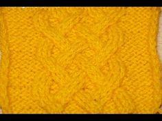 Вязание спицами узора Кельтская коса - Схема 12 /// Knitting pattern Celtic braid - 12 Scheme - YouTube