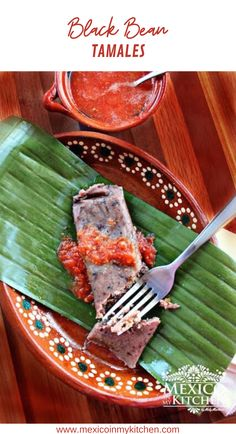 """How to make Black Bean Tamales │These unique and delicious black bean and pork crackling tamales are a traditional recipe from the state of Tabasco. They are usually flavored with the addition of """"Hoja Santa"""" a very aromatic leaf used for cooking in several states of Mexico. #mexicanfood #mexicanrecipes #homecook #foodrecipes #easyrecipes Tamales, Pozole, Tostadas, Layout Design, Black Bean Chicken, Tamale Recipe, Chicken Casserole, Zucchini Casserole, Gourmet"""