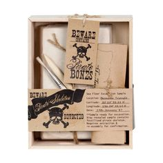 Seedling Pirate Bones Excavation Kit | Excavate your pirate bones and assemble the treasure map! #Seedling #kidsgiftsau #kidscraftau #pirates #boysgiftsau