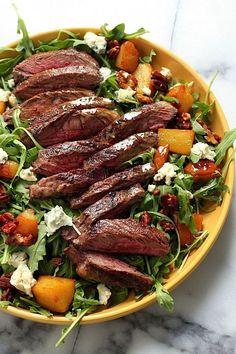 Arugula skirt steak salad-Steak can totally be a light meal.