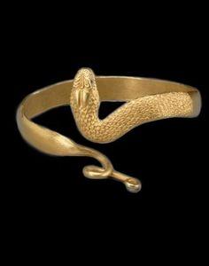Bracelete em formato de cobra Egípcio, Egito 300-100 A.C.