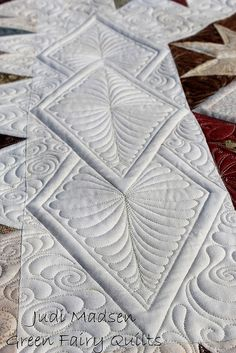 Green Fairy Quilts - Judi Madsen Judi Madsen--Always Inspiring!  Love these Diamonds!