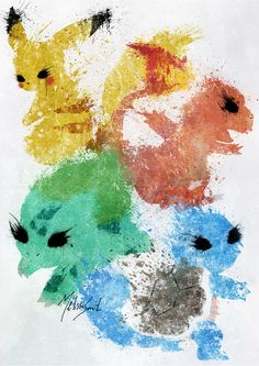 Pokemon Starters by BOMBATTACK.deviantart.com on @DeviantArt