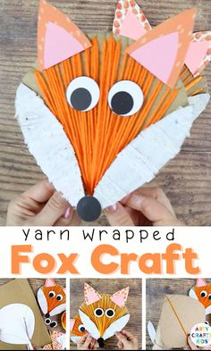 A fun and engaging Fox Craft for Kids - perfect for Autumn crafting; Incorporating drawing, cutting, painting, gluing and threading, it's a wonderful refresher for those all important fine motor skills. The engaging and tactile craft can be used to support school learning topics, or perhaps as a mask for a forest animals inspired performance at home? Halloween Crafts For Toddlers, Christmas Crafts For Kids To Make, Animal Crafts For Kids, Art For Kids, Bee Crafts For Kids, Thanksgiving Games For Kids, Easy Fall Crafts, Thanksgiving Crafts For Kids, Fall Arts And Crafts