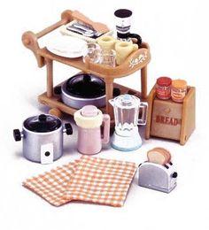 Epoch Mosquito -407 Sylvanian Families Furniture Kitchen Appliances Set #Epoch