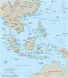 South East and Australia Map Maps travel holiday Geographical