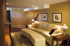 Finished Basement | Renovations Basement Renovations, Sofa, Couch, It Is Finished, Projects, Furniture, Home Decor, Blue Prints, Sofas