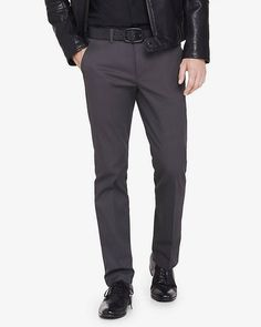 ab9cabd4 extra slim innovator gray cotton dress pant - Brought to you by Avarsha.com  Stretch