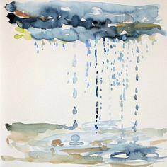 La Pluie, en peinture à l'eau (par Michael Arndt)