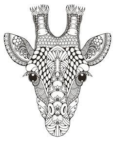 Zentangle stylized giraffe head. Freehand pencil. on Behance