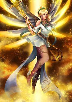 Winged Victory Mercy by Lespapillions.deviantart.com #overwatch #summer #games #summergames #greek #goddess #fanart #nike | overwatch fan art, angel