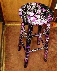 Muddy Girl Camo  | Muddy girl bar stool | CAMO!!! :)