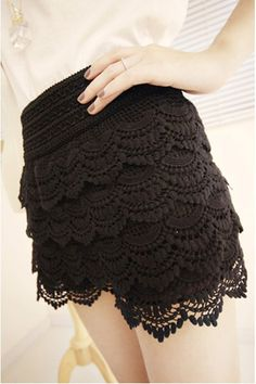 Vintage High Waist Lace Shorts.