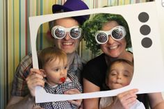 Little People Loves: Willy Wonka Party ~ Love this idea for photos...reminds me of scene when Mike TeeVee ends up in the TV