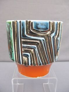 A Poole Pottery Delphis Bowl Planter 1960S70S Decorated BY Patricia Wells |