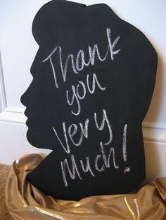 Elvis Silhouette Chalkboard by jdavissquared on Etsy