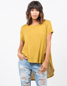 Lightweight Knit Top - Green Top - Yellow Top - Knit Tops – Tops – 2020AVE