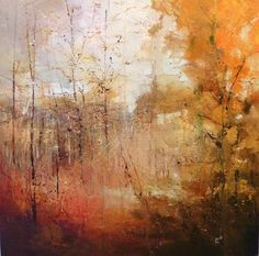"Saatchi+Online+Artist+Claire+Wiltsher;+Painting,+""Forest+clearing""+#art"