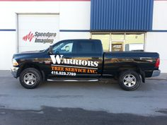 The latest in the fleet for Warriors Tree Service!!!  Vehicle wrap completed April 2, 2014 - www.SpeedproDurham.ca
