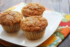 Whole Wheat Pumpkin Muffins Recipe   Healthy Recipes Blog--not low ox at all, but most of these recipes look good :D