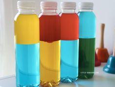 bouteilles sensorielle découverte des couelurs