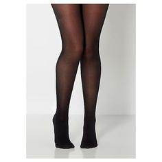 Black Opaque Microfiber Tights ❤ liked on Polyvore
