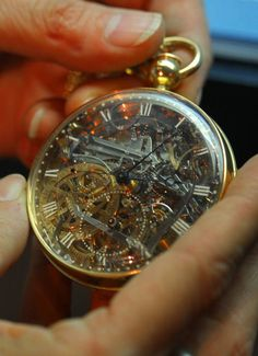 This rock-crystal pocket watch was made for French queen Marie Antoinette and is among a collection of 40 rare clocks that were stolen 25 years ago and recently discovered. The priceless watch was made by French watchmaker Abraham Louis Brequet.
