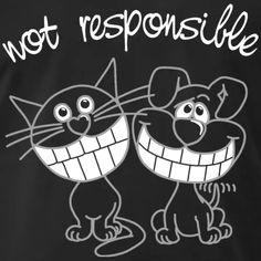 Kätzchen & Hündchen not responsible | yippeee - lustige Comics und Cartoons Comics Und Cartoons, Baby T Shirts, Snoopy, Babys, Fictional Characters, Sport, Cats, Pet Dogs, Funny Cartoons