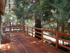 Rustic Triple Horizontal Board Handrail