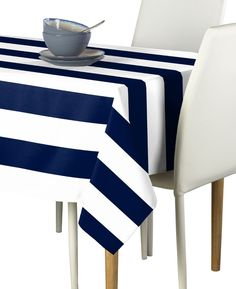 "Free 2-day shipping on qualified orders over $35. Buy Navy & White Cabana Stripe Tablecloth 60""x84"" at Walmart.com"
