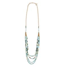 I really like the necklace. This cool blue layering necklace is versatile and adds a pop to a variety of outfits. Try it with mustard or deep jewel tones in the Fall. (Stitch Fix Lurline Beaded Layering Necklace) Stitch Fix Fall, Stitch Fit, Stitch Fix Outfits, Cool Necklaces, Stitch Fix Stylist, Jewel Tones, Making Ideas, Style Me, Jewelery