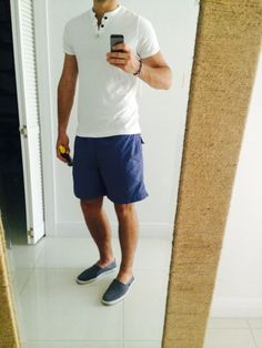 http://chicerman.com men-casual-style: Beach look for today at key biscane!! #streetstyleformen