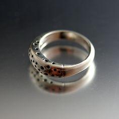 Sterling Silver Random Spot Ring