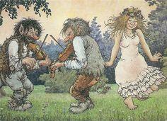 The life and times of Swedish trolls. - Artist: Rolf Lidberg