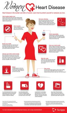 Scripps Health - Tips to Prevent Heart Disease in Women Heart disease is the number one killer of women. Our heart health infographic provides tips to help women live a healthy lifestyle and prevent heart disease. Health And Wellness, Health Tips, Health Fitness, Women's Health, Womens Wellness, Fitness Tips, Fitness Wear, Fitness Logo, Fitness Quotes