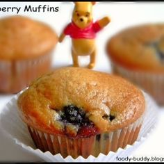 Eggless Blueberrry Muffins by foodybuddy
