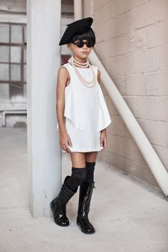 White Flower Girl Dress Modern Girl dress Special by CatteliyaTT