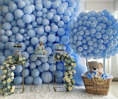 may birthday ideas Baby Shower Decorations For Boys, Balloon Decorations Party, Party Decoration, Boy Baby Shower Themes, Baby Shower Balloons, Baby Shower Gender Reveal, Baby Shower Centerpieces, Baby Shower Parties, Birthday Decorations