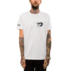 White 'Peace To My Family...' Tee by Few and Far Collective - 3