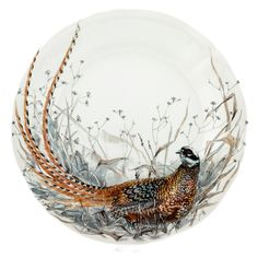 The Gien Sologne pattern is a complete dinner service named for the Sologne region in France where game is abundant. Gien Sologne features various motifs that capture and celebrate game animals from the Sologne. Grey Dinnerware, Dinnerware Sets, Home Design Blogs, Scully And Scully, Table Setting Inspiration, Autumn Table, Waterford Crystal, China Painting, Bird Pictures